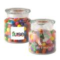 22 oz glass jar filled with Rainbow Bubble Gum