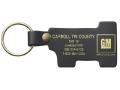 "#1 Shaped Top Grain Leather Riveted Key Tag (1 5/8""x3 5/8"")"